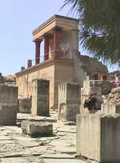 Knossos - building with 3 columns