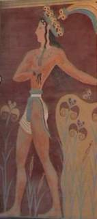Knossos - boy with llilies