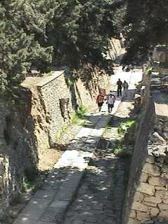 Ancient road into Knossos