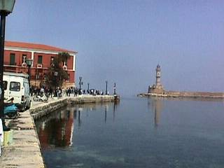 Chania harbour and lighthouse