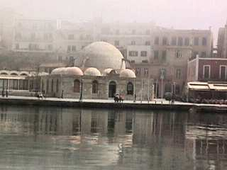 Chania mosque on harbour