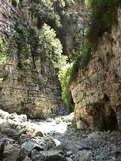 Imbros Gorge gets narrower